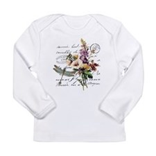 Dragonfly and flowers Long Sleeve T-Shirt