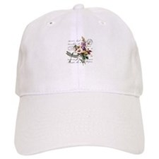 Dragonfly and flowers Baseball Cap
