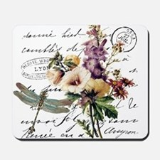 Dragonfly and flowers Mousepad