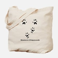 Eastern Chipmunk Tracks Pawprints Tote Bag