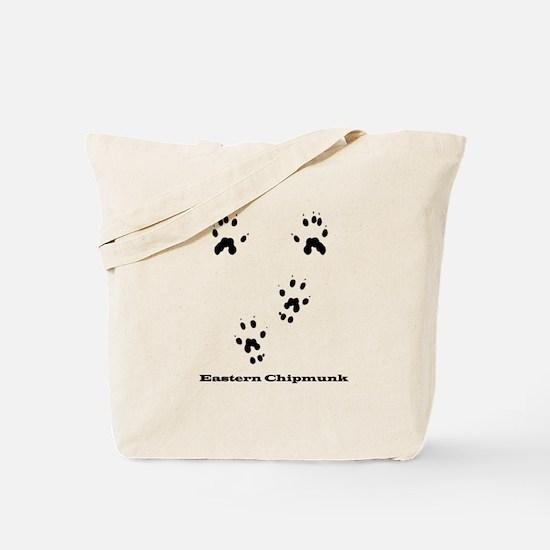 Eastern Chipmunk Tracks Pawprints Tote Bag
