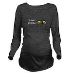 Lager Drinker Long Sleeve Maternity T-Shirt