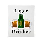 Lager Drinker Throw Blanket