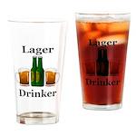Lager Drinker Drinking Glass