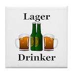 Lager Drinker Tile Coaster