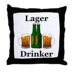 Lager Drinker Throw Pillow