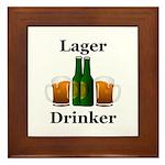 Lager Drinker Framed Tile