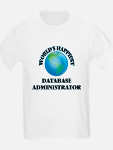 World's Happiest Database Administrator T-Shirt