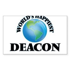 World's Happiest Deacon Decal