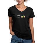 Beer Taster Women's V-Neck Dark T-Shirt