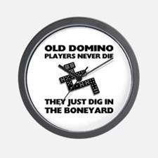 Domino Players Never Die Wall Clock