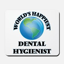 World's Happiest Dental Hygienist Mousepad