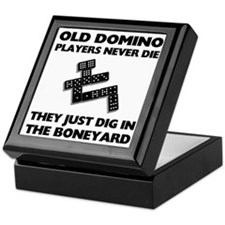 Domino Players Never Die Keepsake Box