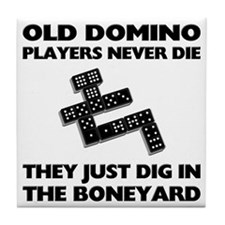 Domino Players Never Die Tile Coaster