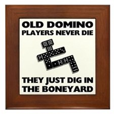 Domino Players Never Die Framed Tile