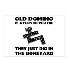 Domino Players Never Die Postcards (Package of 8)