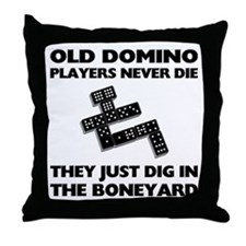 Domino Players Never Die Throw Pillow