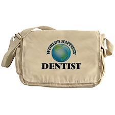 World's Happiest Dentist Messenger Bag