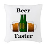 Beer Taster Woven Throw Pillow