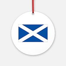 Scotland Flag Ornament (Round)