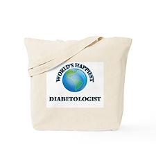 World's Happiest Diabetologist Tote Bag