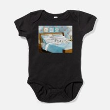 Sleeps with Maltese ByCatiaCho Baby Bodysuit