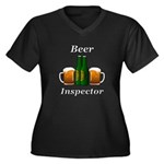 Beer Inspect Women's Plus Size V-Neck Dark T-Shirt