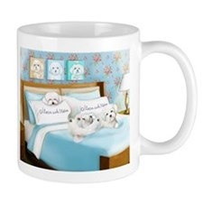 Sleeps with Maltese ByCatiaCho Mugs
