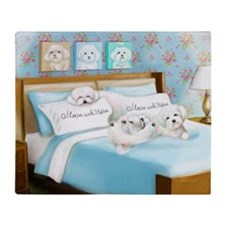 Sleeps with Maltese ByCatiaCho Throw Blanket