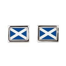 Scotland Flag Rectangular Cufflinks