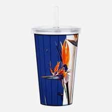 Bird of Paradise with Blue Door Acrylic Double-wal