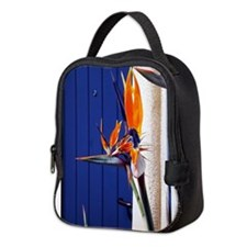 Bird of Paradise with Blue Door Neoprene Lunch Bag