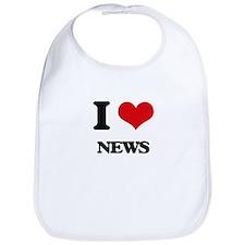 I Love News Bib