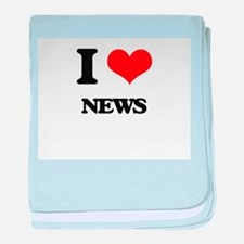 I Love News baby blanket