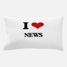 I Love News Pillow Case