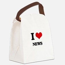 I Love News Canvas Lunch Bag
