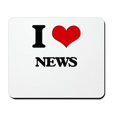 I Love News Mousepad