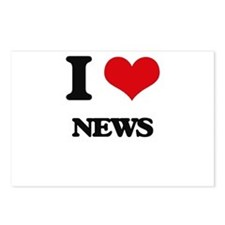 I Love News Postcards (Package of 8)