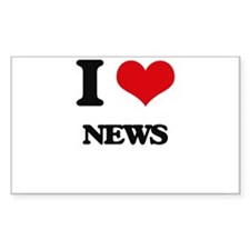I Love News Decal