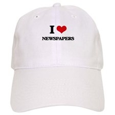 I Love Newspapers Cap