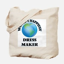 World's Happiest Dress Maker Tote Bag