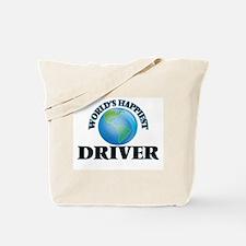 World's Happiest Driver Tote Bag