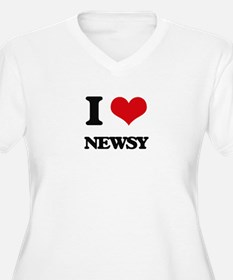I Love Newsy Plus Size T-Shirt