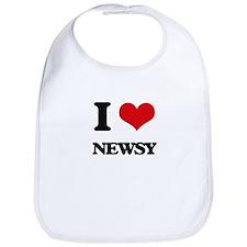 I Love Newsy Bib