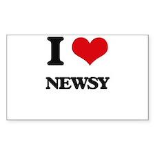 I Love Newsy Decal