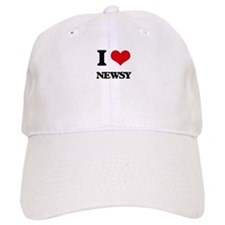 I Love Newsy Baseball Cap