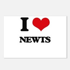 I Love Newts Postcards (Package of 8)