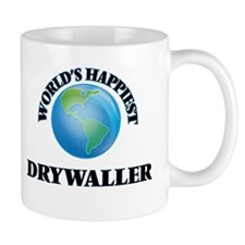 World's Happiest Drywaller Mugs