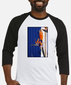 Bird of Paradise with Blue Door Baseball Jersey