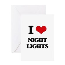 I Love Night Lights Greeting Cards